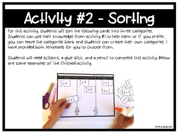 5.NF.B.5 - Multiplication as Scaling Activities and Assessment