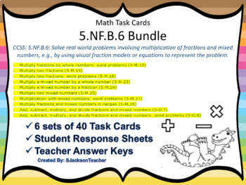 5.NF.B.6 Bundle of Task Cards