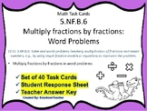 5.NF.B.6 Task Cards: Multiply 2 fractions Word Problems