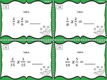5.NF.B.6 Task Cards: Multiply 2 fractions