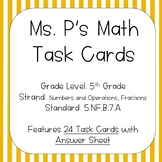 5.NF.B.7.A Division of a Unit Fraction by a Whole Number Task Cards   Distance