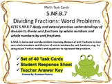 5.NF.B.7 Task Cards: Dividing Fractions Word Problems