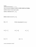5.NF.B4 and 5.NF.B4A Multiplication of Fractions