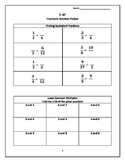 5.NF Fraction Review Packet GMAS EDITABLE