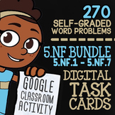5.NF1-5.NF7 Self-Graded Google Classroom Fractions Activities | 5th Grade Bundle