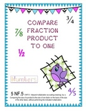 5 NF.5 Compare Fraction Product to One   Card Sort Activity