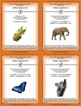 5 NGRE Animal Adaptations - Complete Set, 1-4