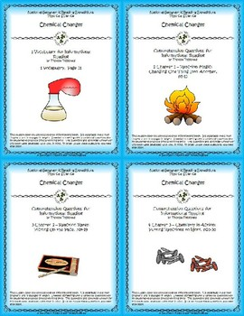 5 NGRE Chemical Changes - Complete Set, 1-4