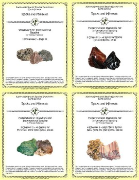 5 NGRE Rocks and Minerals - Complete Set, 1-4