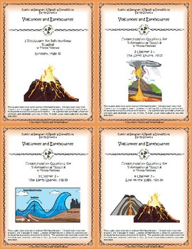 5 NGRE Volcanoes and Earthquakes - Complete Set, 1-4