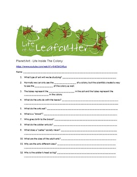 3 LS2-1 -Video - Leaf Cutter Ants - Group Survival -Guided Notes