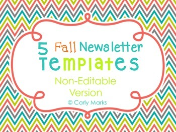5 Non-Editable Fall Newsletter Templates