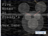 5 Notes at Freddy's -  Halloween Note  Activity for Music
