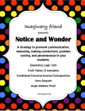 Notice and Wonder Activites for Geometry Logic