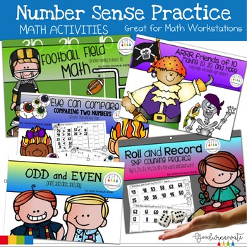 Number Sense Math Practice Activities Bundle