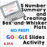 5-Number Summary and Box Plots Google Slides Activity - NO