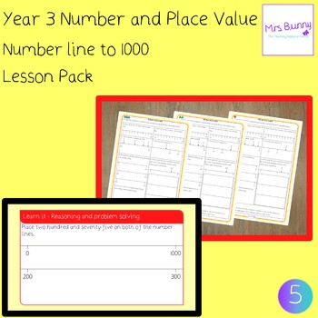5. Number and Place Value: number line to 1000 lesson pack (Y3)