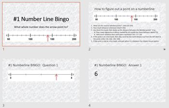 5 Numberline Bingo Games for Whole Numbers