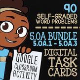 5.OA.1-5.OA.3   5th Grade Math Review Digital Task Cards for Google Classroom™