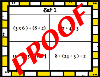5.OA.1 Halloween Themed Order or Operations Task Card and Sort