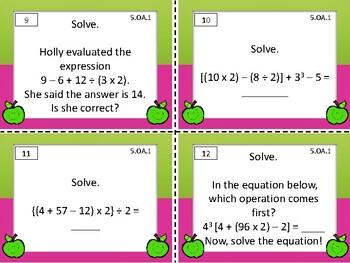 5.OA.1 Math Task Cards