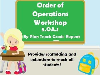 5.OA.1 (Order of Operations) Math Center/Workshop