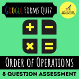 5.OA.1 - Order of Operations Quiz (Google Forms + Paper)