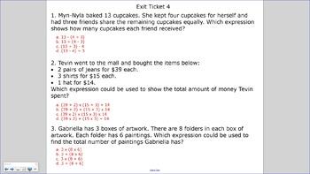 5.OA.1 SMART Board Lessons [94 Slides, ~1 week of instruction]
