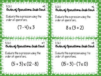5.OA.1 Task Cards
