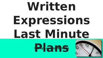5.OA.2 Last Minute 4 Day Lesson Plans! No Prep & No Copies