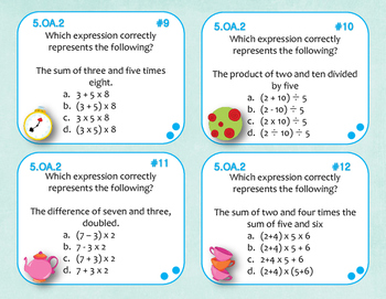 5.OA.2 (Numerical Expression) Task Cards