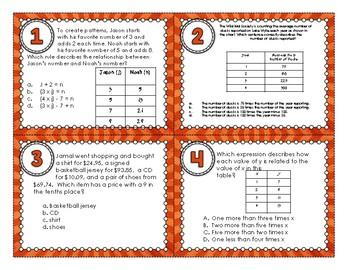 5.OA.3 Task Cards