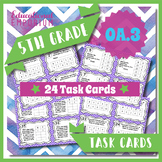 5.OA.3 Task Cards ⭐ Numerical Patterns, Ordered Pairs & Graphing