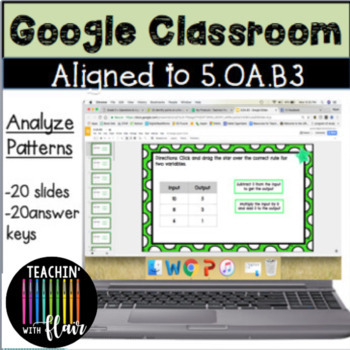 5.OA.B3 Google Classroom Analyze Patterns and Relationships