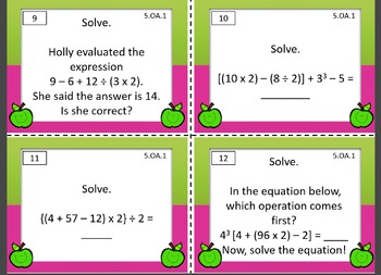 5.OA Math Task Cards Bundle