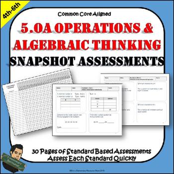 5th Grade Math Order of Operations and Algebra 5.OA