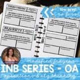 5OA Vocabulary: Operations & Algebraic Thinking (Interactive Notebook Series)