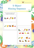 5 Object Missing Sequence (Visual Sequential Memory Worksheets)