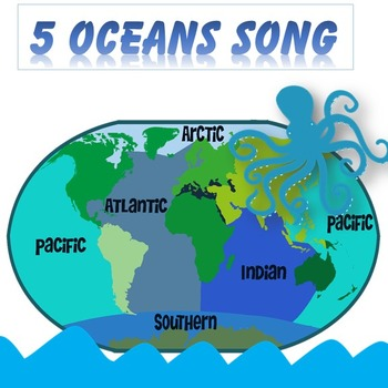 5 Oceans Song by FlyingPie | Teachers Pay Teachers