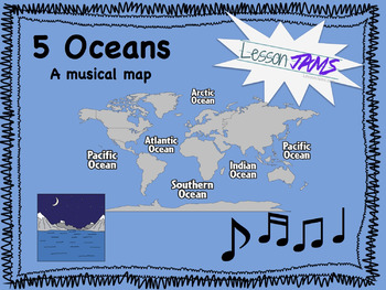 Continents & Oceans - Song: 5 Oceans mp3 - A funky musical map