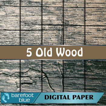5 Old Wood Barn Board Background Texture Digital Paper