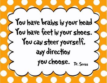 5 Orange - Dr. Seuss Quote decor