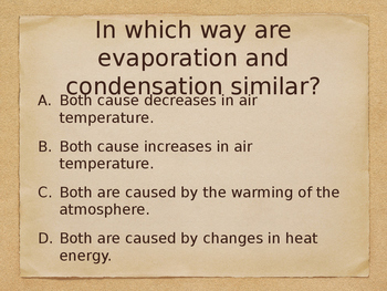 5.P.2 and 5.P.3 Science Review Questions