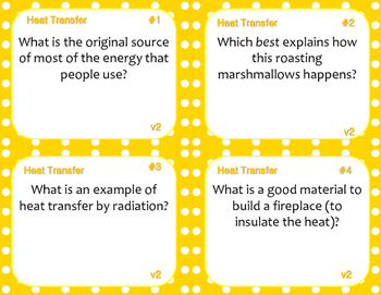 Heat Transfer Task Cards (Differentiated)