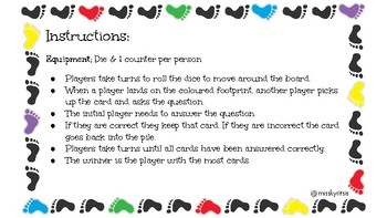 5 P's Board Game Playing Cards