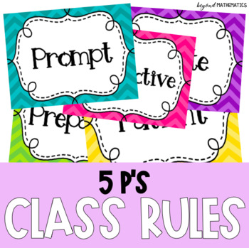 5 P's Classroom Rules