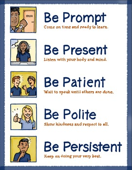 5 Classroom Rules Poster