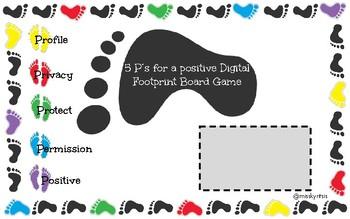 5 P's Digital Footprint Board Game