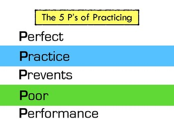 5 P's of Practicing (Classroom Poster)