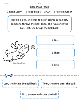 5 PACK - Sequencing Sentences using a Short Story